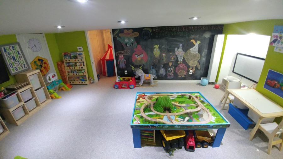 Large Chalkboard Wall Paint in Mississauga Playroom