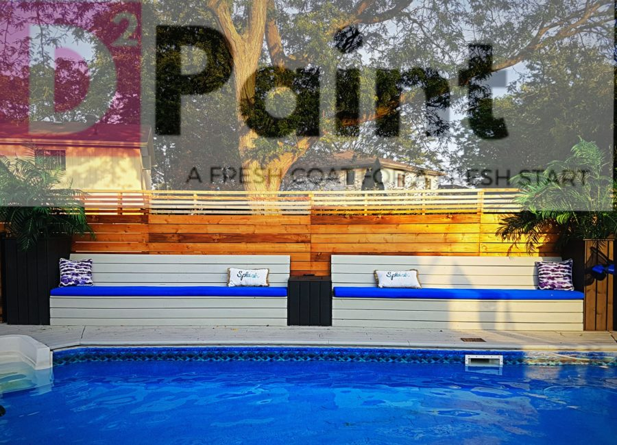 Pool Deck and Bench Paint Job