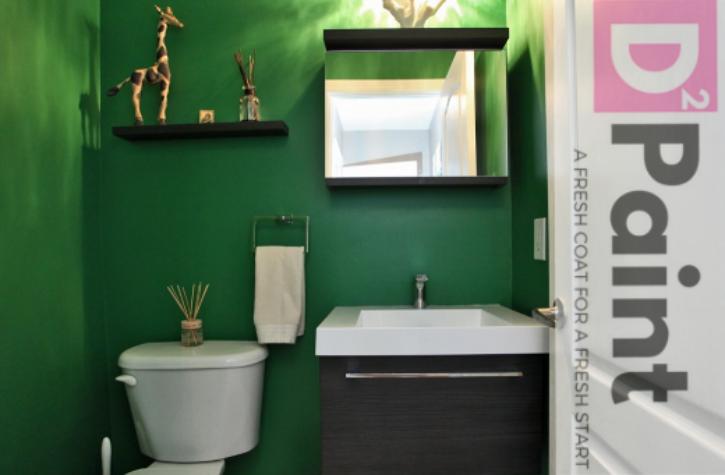 Jungle Green Powder Room