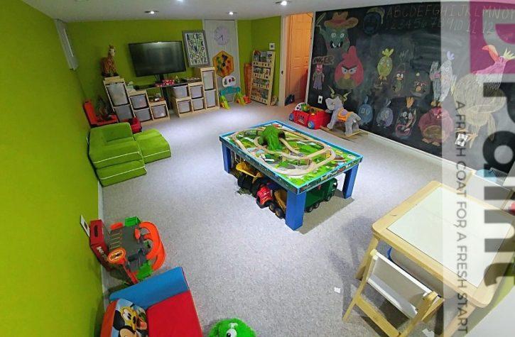 Lime Green & Chalkboard Kids Playroom